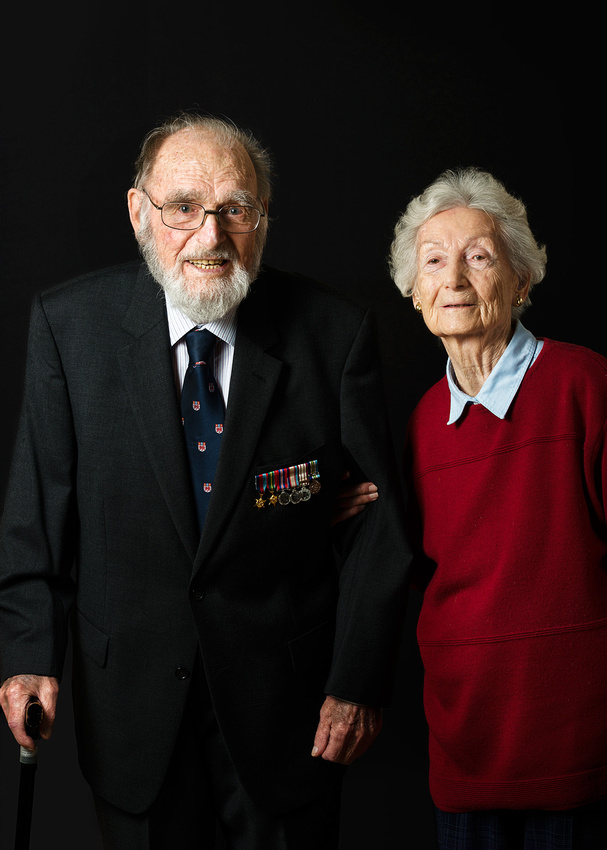 Word War Two Veteran Able Seaman Arthur Fuller and his wife Judith