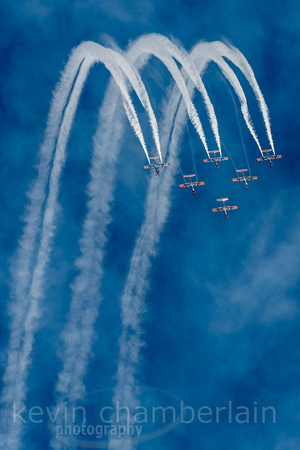 The Roulettes - Military aircraft display over Canberra skies for Centenary of the RAAF