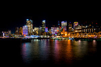 Sydney City Skyline at Vivid 2015