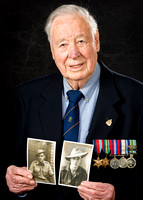 Portrait Photography of a Young Soldier and the Veteran of Today