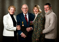 Portrait Photography of World War Two Veteran and Family