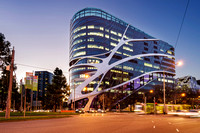Exterior Architectural Photography of the Melbourne Cancer Centre at Dusk