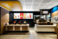 Architecture Photography of the Interior Areas of a New McDonalds Outlet