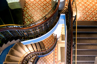 Sydney architectural photographer photographs interior architectural images of the QVB staircases
