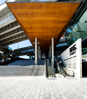 Architectural Photography of the International Convention Centre's Roofline