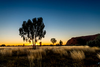 Photography of the Landscape around Uluru in the Setting Sun