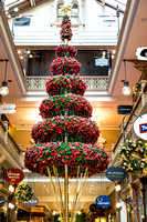Event photographer photographs Christmas decorations and a Christmas Tree in Sydney's Strand Arcade