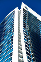 Commercial architectural photographer photographs architectural detail of the Hotel Hilton Twin Towers in Surfers Paradise