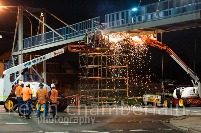 Demolition of a Footbridge at Liverpool GP Super Clinic