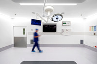 Architectural Photography of Operating Theatre, Corian coating, St Vincents Private Hospital